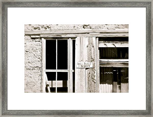 Will Build To Suit Framed Print