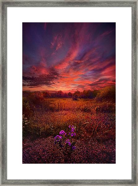 We Find Our Own Story Framed Print