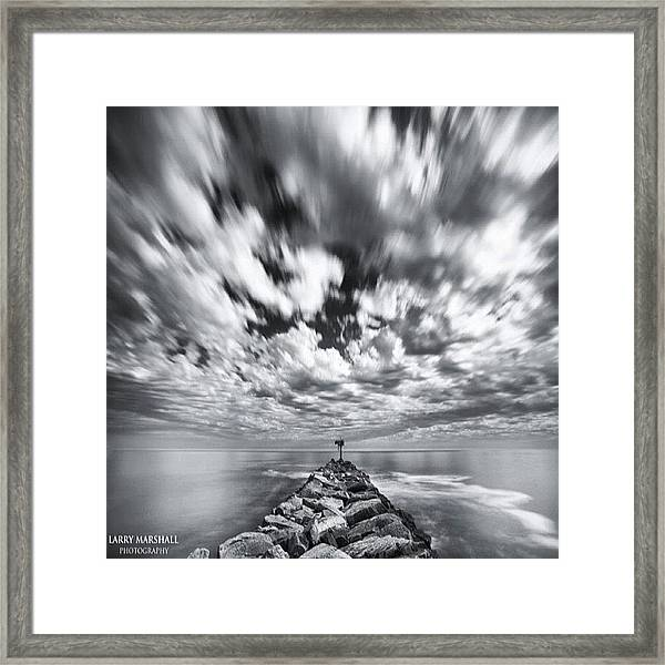 We Have Had Lots Of High Clouds And Framed Print