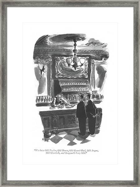 We Have Old Taylor Framed Print