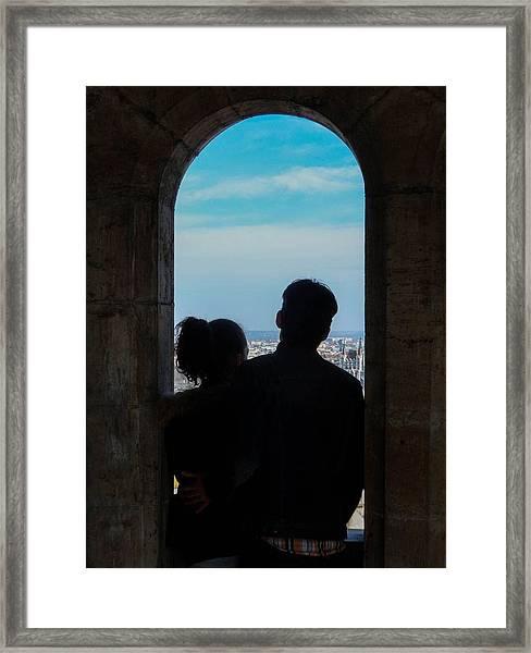 We Meet A Partner Framed Print
