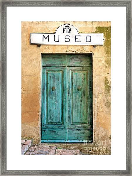 Weathed Museo Door Framed Print