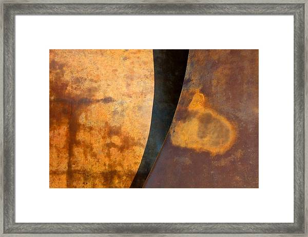 Weathered Bronze Abstract Framed Print