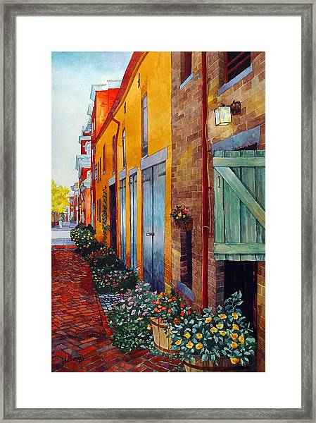 Weathered Door Rustic Path Framed Print