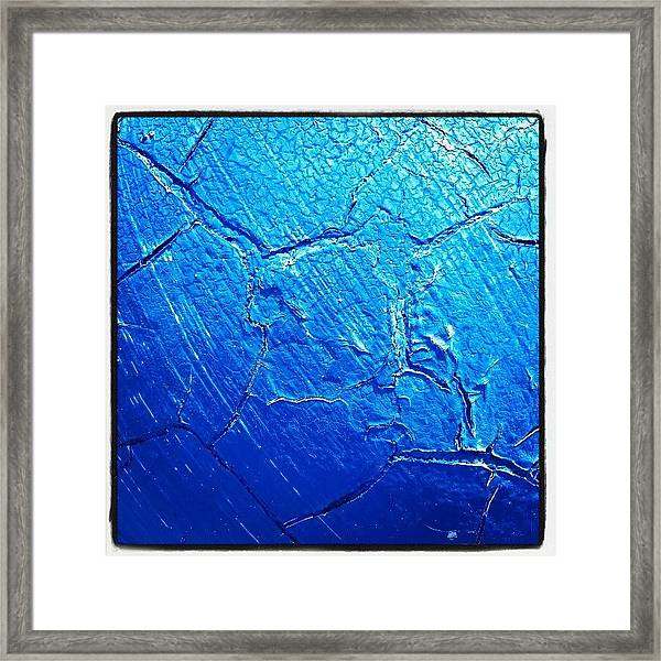 Weathered In Blue Framed Print