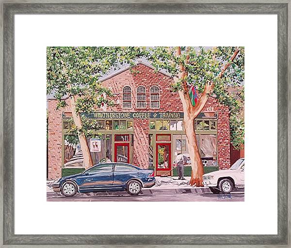 Weatherstone Coffee Framed Print by Paul Guyer