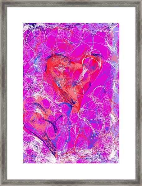 Web Of Love Framed Print