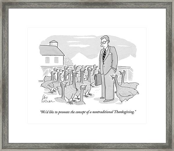 We'd Like To Promote The Concept Framed Print