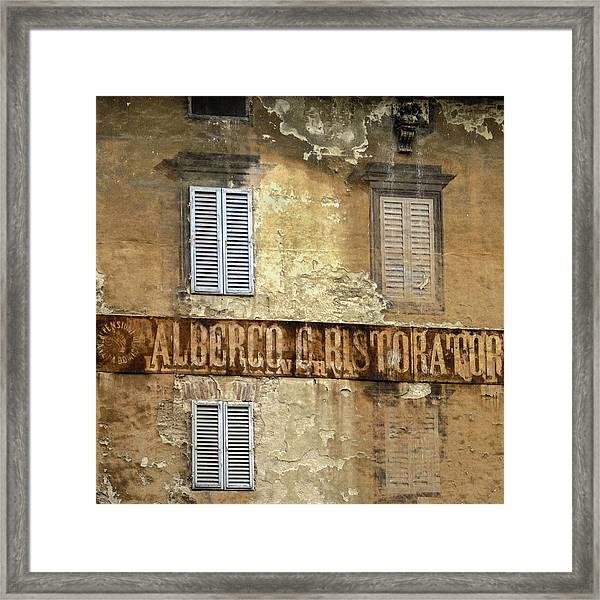 Weekend In Siena Framed Print