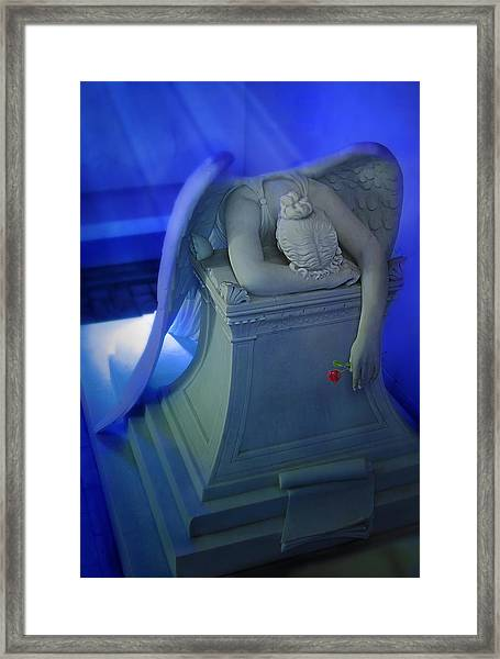 Weeping Angel Front View Framed Print by Don Lovett