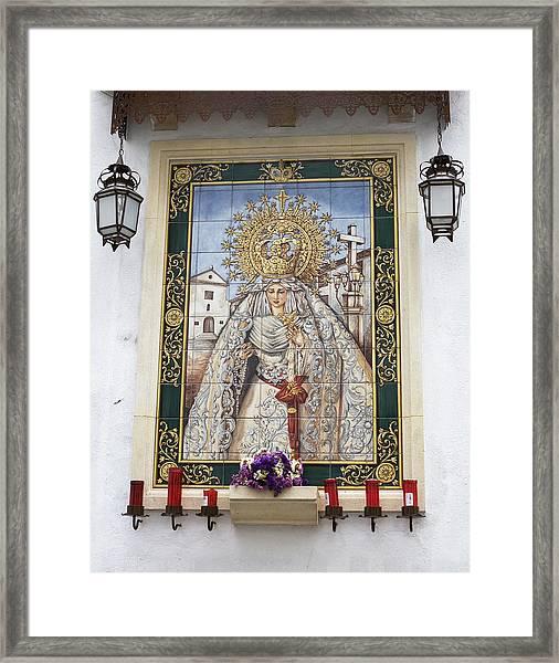 Framed Print featuring the photograph Weeping Virgin by Lorraine Devon Wilke