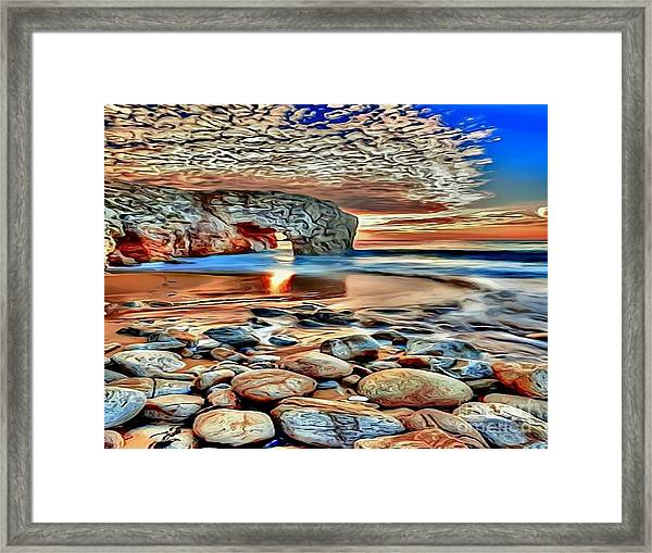 Weighed In Stone Framed Print