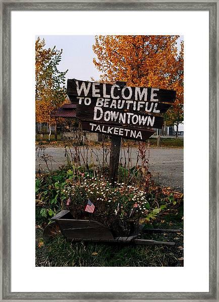Welcome ... Framed Print