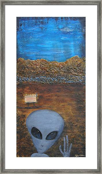 Welcome To Area 51 Framed Print by Jeffrey Oldham