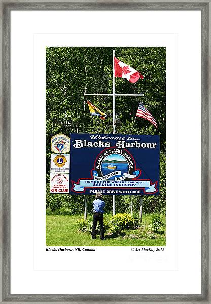 Welcome To Blacks Harbour Framed Print