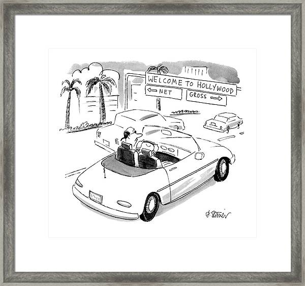 'welcome' To Hollywood 'net' Framed Print