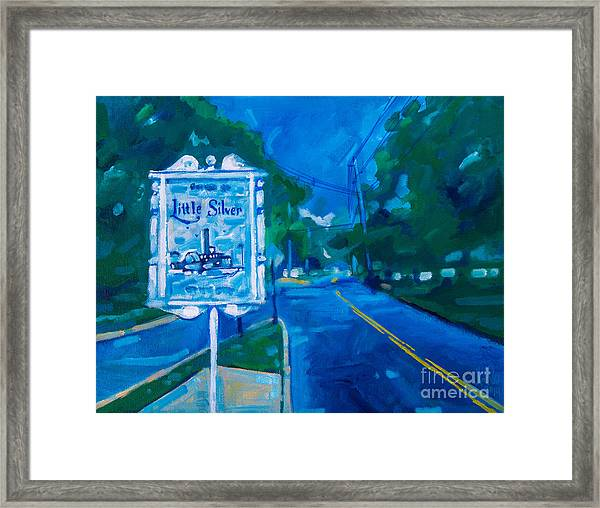 Welcome To Little Silver Framed Print