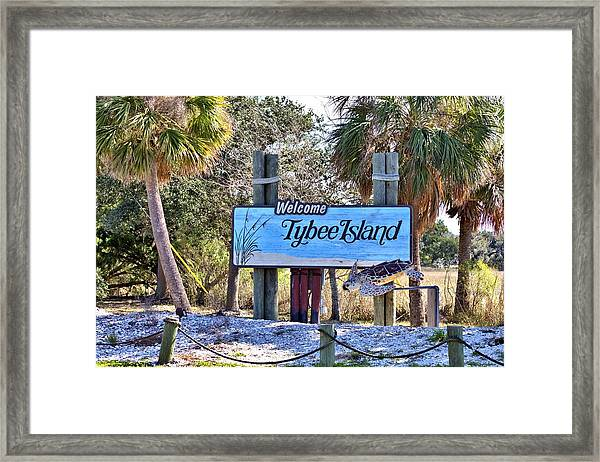 Welcome To Tybee Framed Print