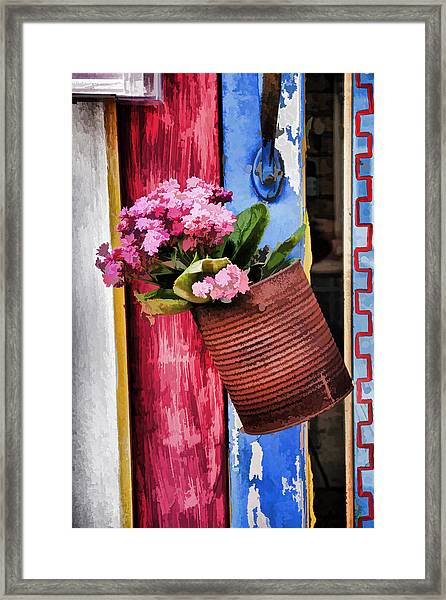 Welcoming Flowers Framed Print