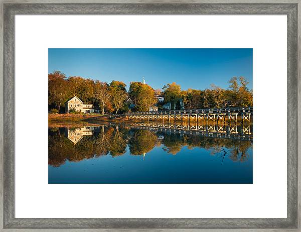 Wellfleet Reflection Framed Print