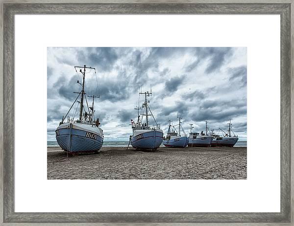West Coast Fishing Boats. Framed Print