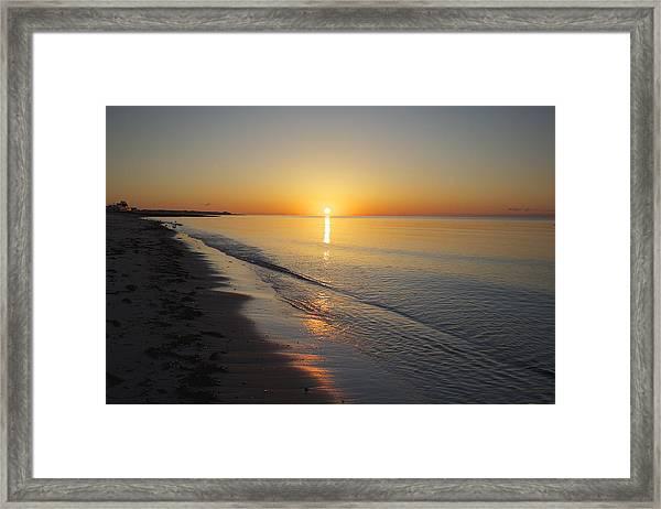 West Dennis Beach Framed Print