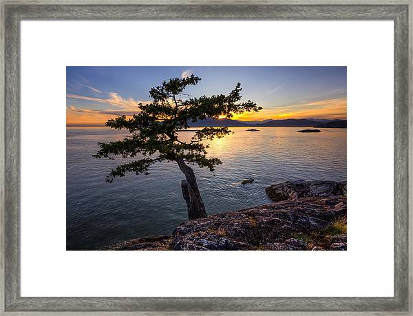 West From Juniper Point Framed Print