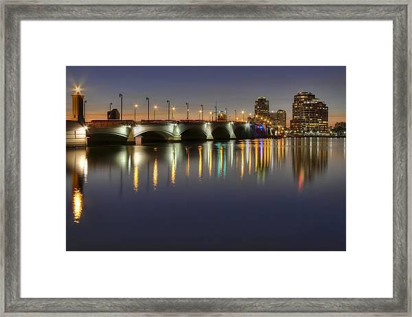 West Palm Beach At Night Framed Print