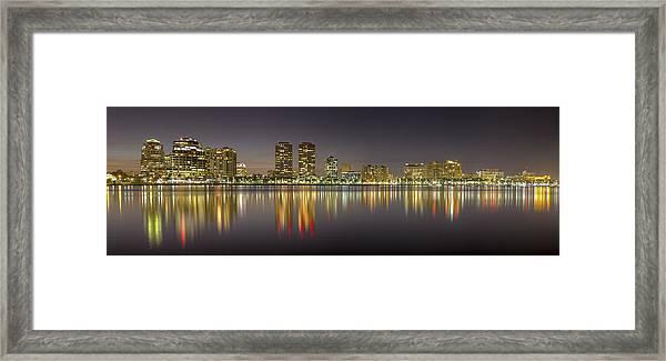 West Palm Beach Skyline Framed Print