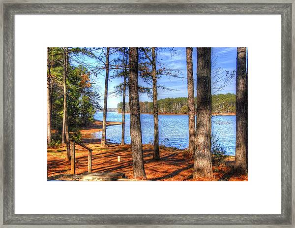 West Point Lake Framed Print