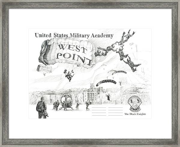 Signature Lines - The Black Knights Framed Print