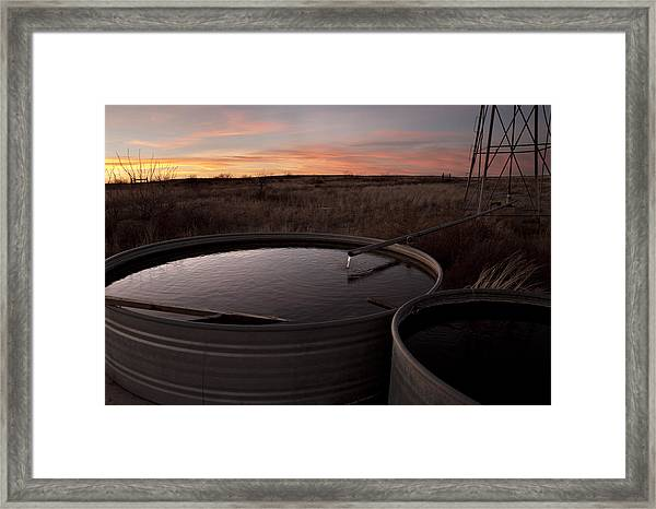 West Texas Plains Sunset Framed Print