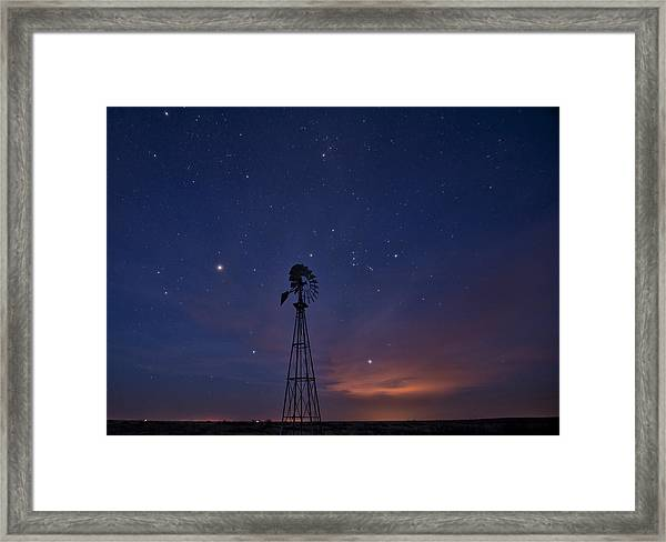 West Texas Sky Framed Print