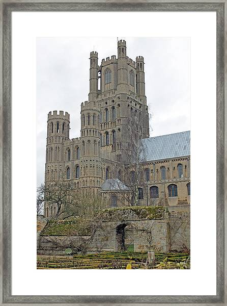 West Tower Of Ely Cathedral  Framed Print