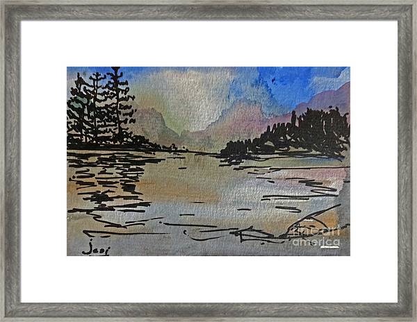 Westcoast Reflections Framed Print