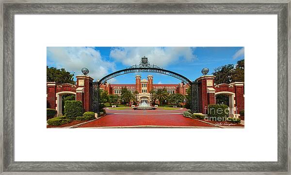 Westcott Gateway Arch - Fsu Framed Print