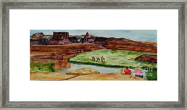 Western Canyons Framed Print