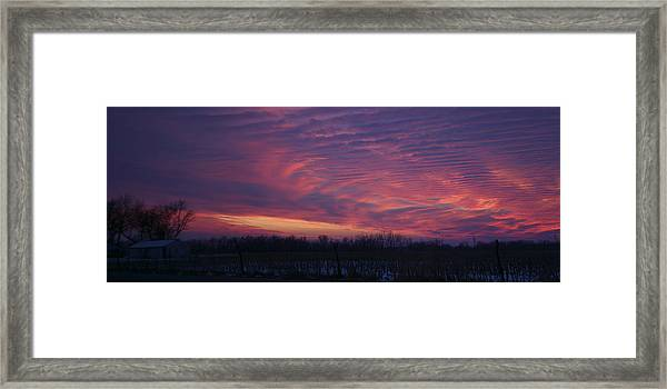 Western Evening Wide Open Framed Print
