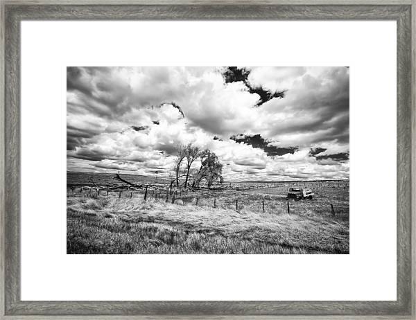 Western Kansas Framed Print