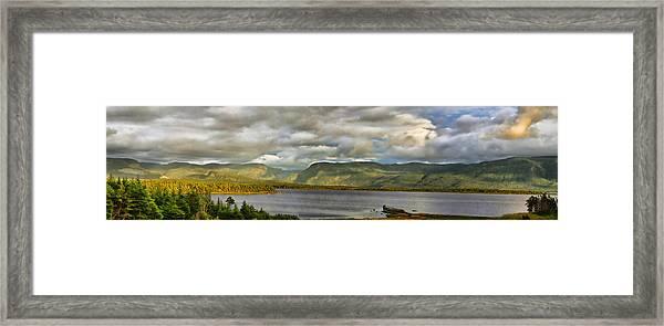 Western Newfoundland Panorma Framed Print by Steve Hurt