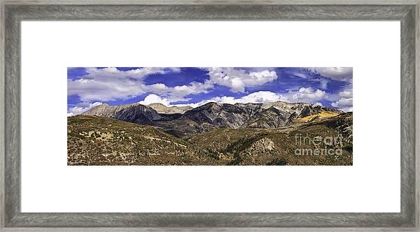 Western Sky Panorama Framed Print