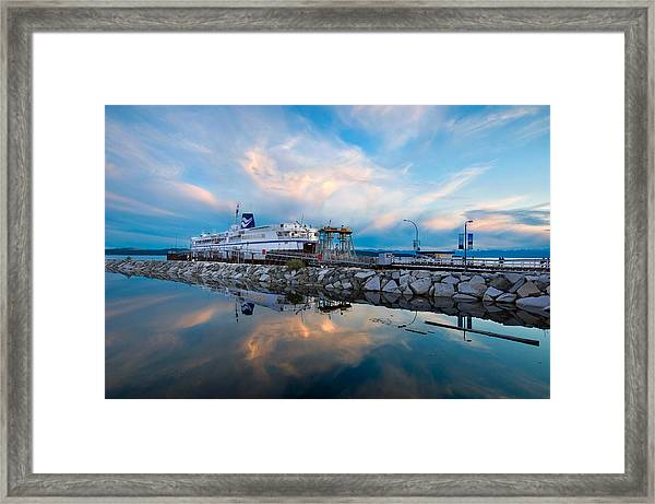 Westview Blue Hour Framed Print