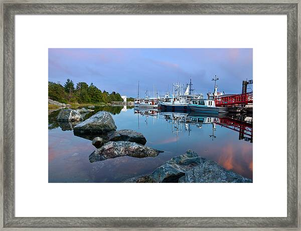 Westview Harbor Framed Print