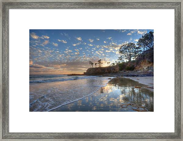 Wet Sand Reflections Laguna Beach Framed Print