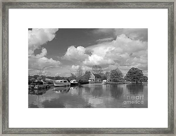 Wey Canal Ripley Surrey Framed Print