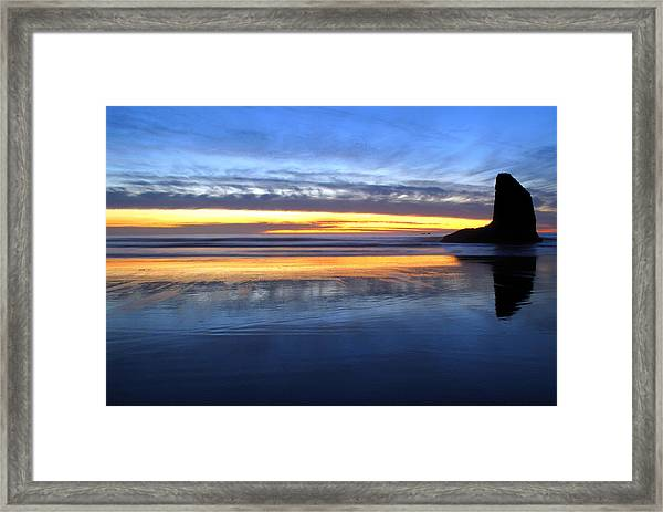Whale Fin Rock Framed Print