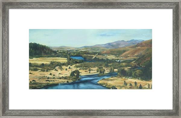 What A Dam Site Framed Print