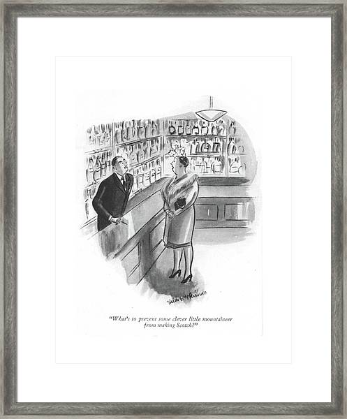 What's To Prevent Some Clever Little Mountaineer Framed Print