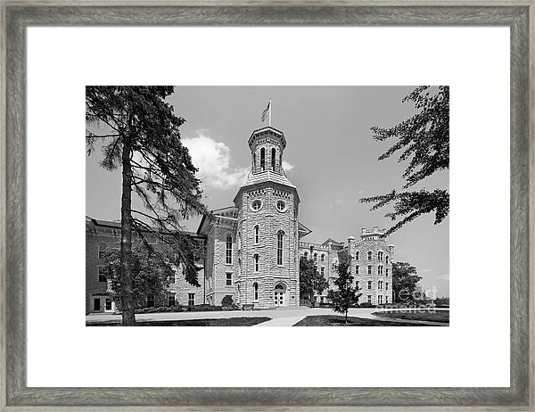 Wheaton College Blanchard Hall Framed Print