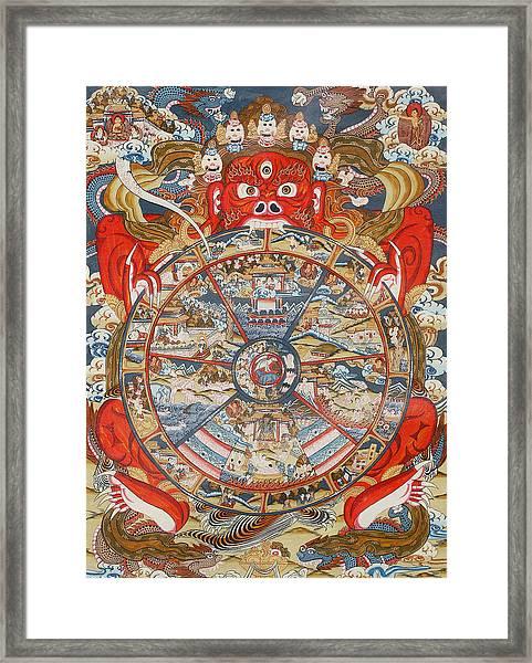 Wheel Of Life Or Wheel Of Samsara Framed Print